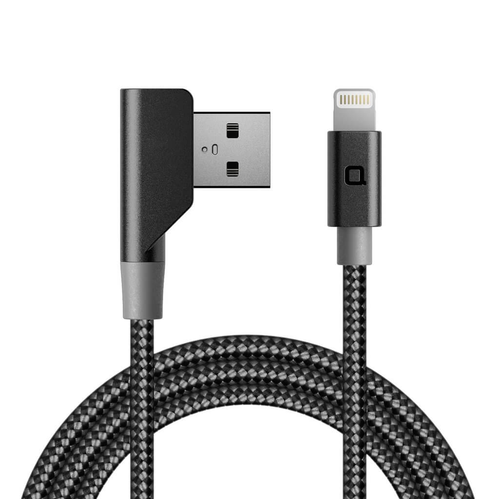 Nonda ZUS 90 Lightning Carbon Fiber Cable - Lightning кабел с оплетка от карбон за iPhone, iPad и устройства с Lightning порт