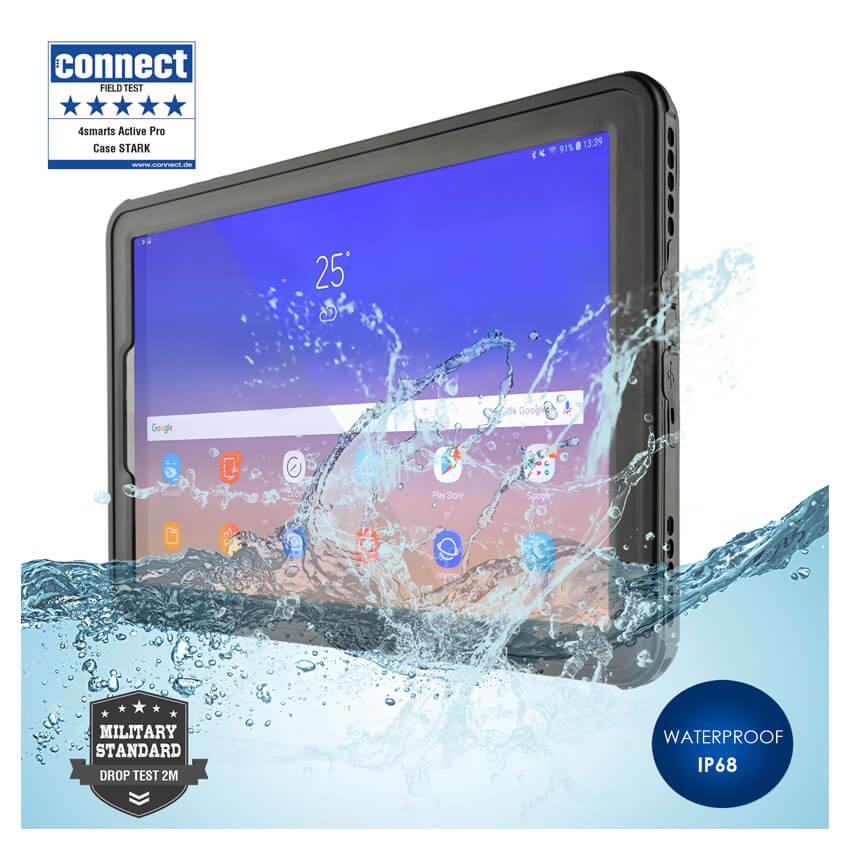 4smarts Rugged Case Active Pro STARK - ударо и водоустойчив калъф за Samsung Galaxy Tab S4 10.5 (черен)