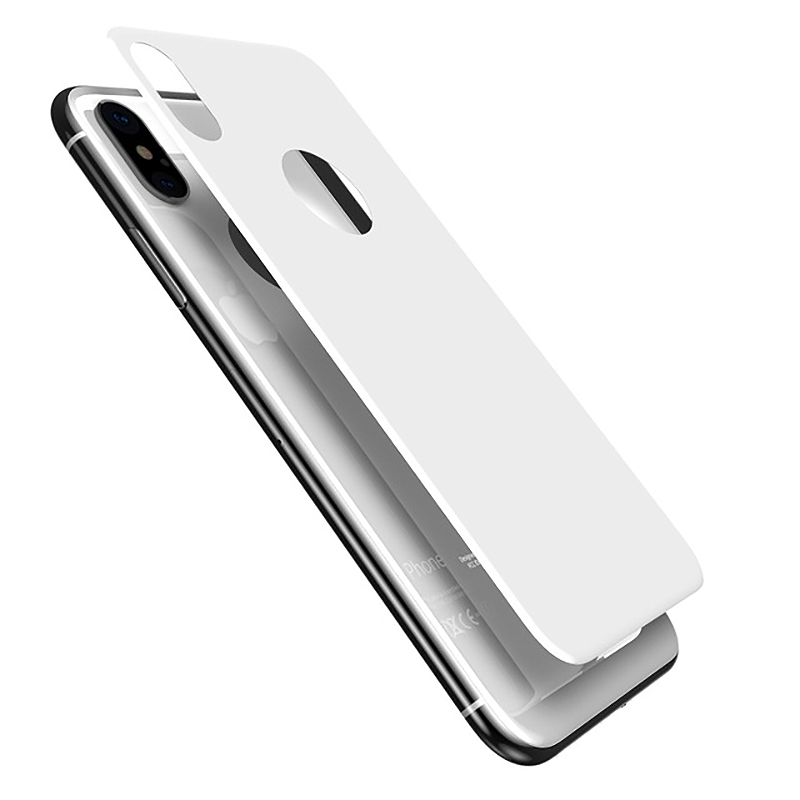 Pantera Glass 3D Tempered Glass for The Back Side - каленo стъкленo защитнo покритие за задната част на iPhone XS, iPhone X (бял)