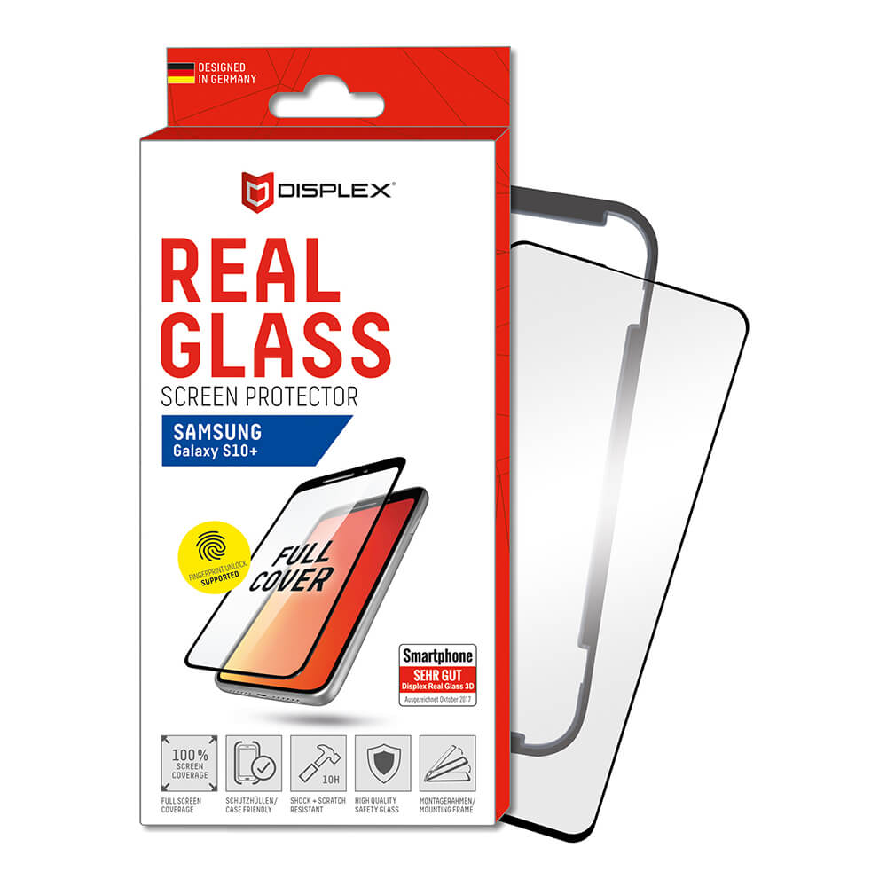 Displex Real Glass 10H Protector 3D Full Cover FPS for Samsung Galaxy S10 Plus (black)