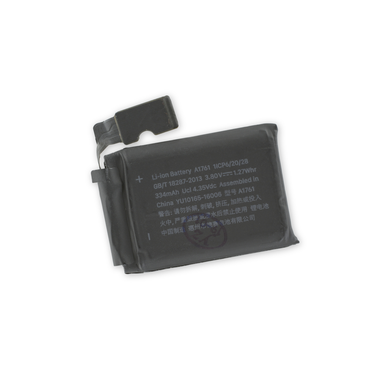 iFixit Apple Watch (42 mm, Series 2) Replacement Battery - качествена резервна батерия за Apple Watch 42 mm Series 2