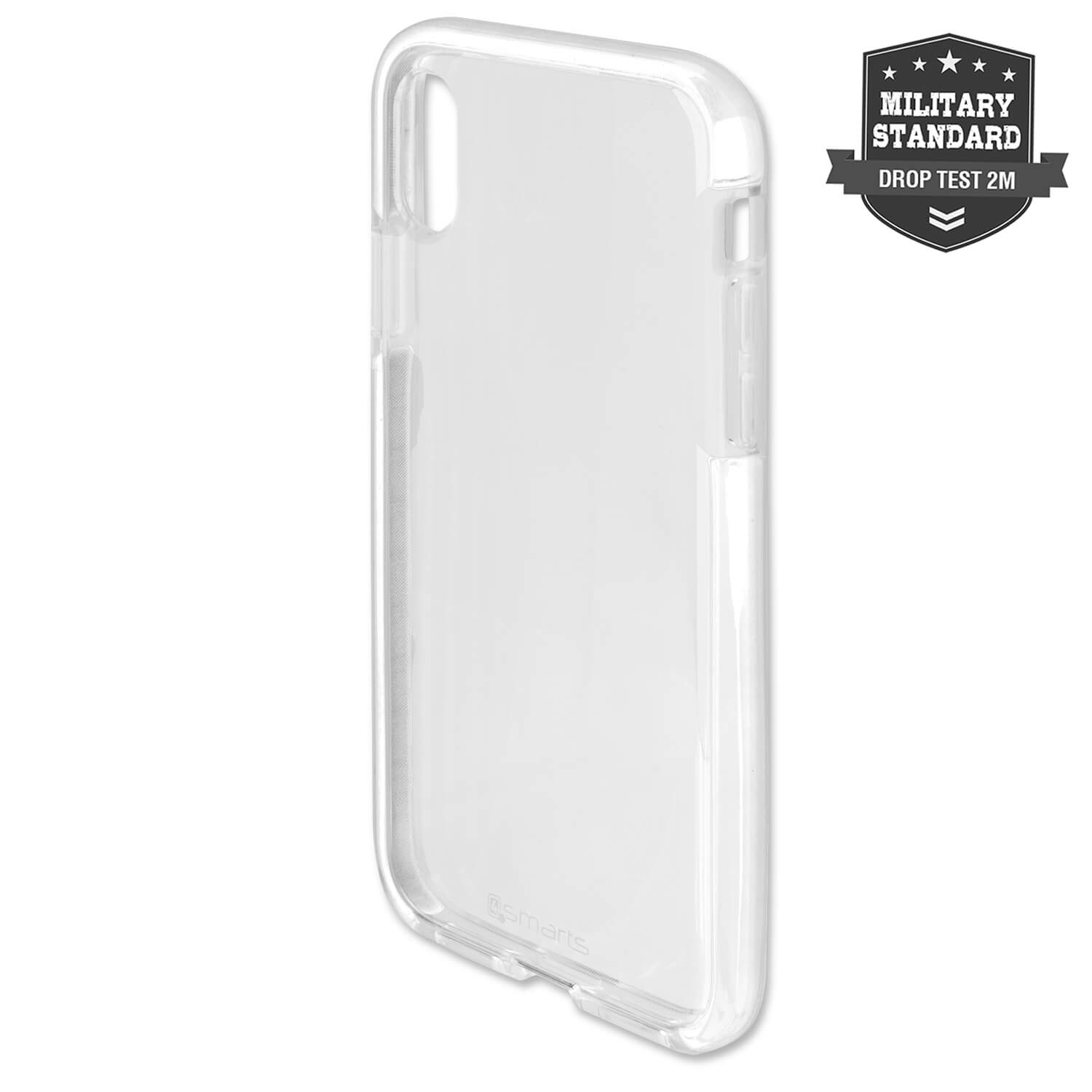 4smarts Soft Cover Airy Shield - хибриден удароустойчив кейс за iPhone XS, iPhone X (бял)