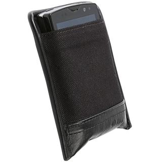 Krusell Lund Mobile Pouch XL - кожен калъф за Sony Xperia мобилни телефони (черен)