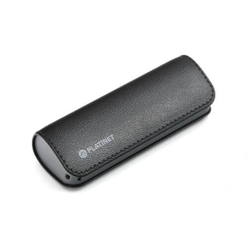Platinet Power Bank Leather 2600mAh + microUSB cable (black)