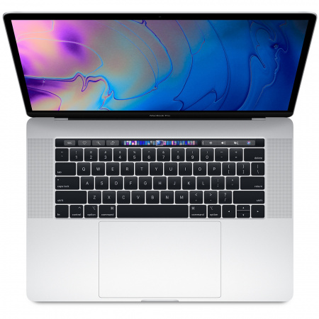 Apple MacBook Pro 15 Touch Bar, Touch ID, 6-Core i7 2.6GHz, 16GB, 256GB SSD, Radeon Pro 555X w 4GB (сребрист) (модел 2019)