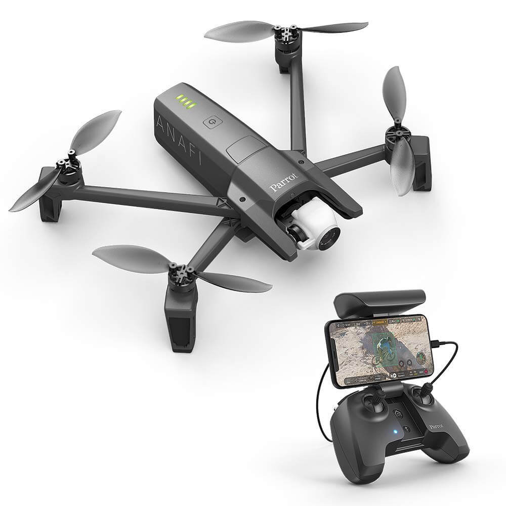 Parrot Anafi Drone, Foldable Quadcopter with 4K HDR Camera (dark grey)