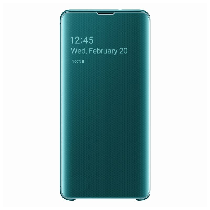 Samsung Clear View Cover EF-ZG975CG for Galaxy S10 Plus (green)