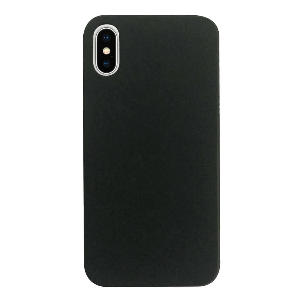 Case FortyFour No.3 Case - поликарбонатов кейс за iPhone XS, iPhone X (черен)