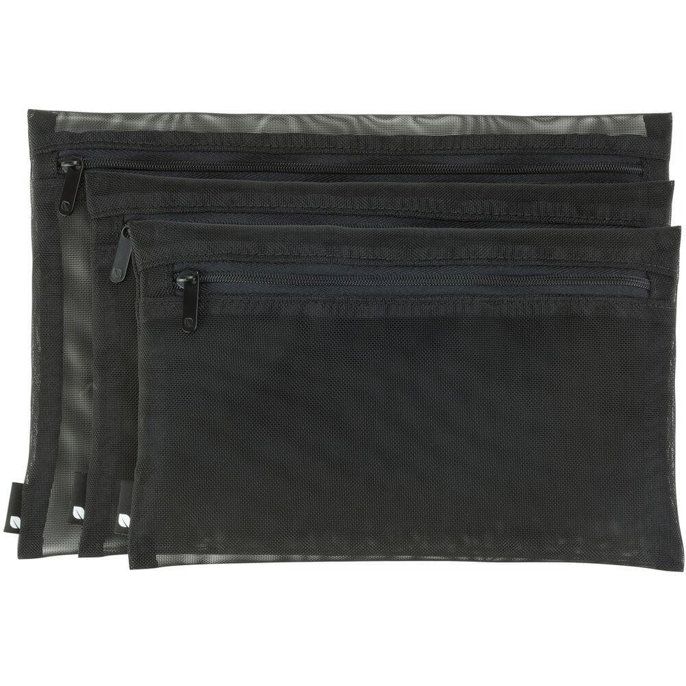 Incase Zip Pouch 3 Pack - комплект от 3 размера калъфи за съхрванение на дребни предмети (черен)