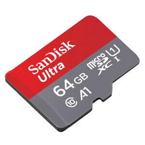 SanDisk Ultra microSDXC UHS-I Card 64GB - microSDXC карта памет + SD адаптер