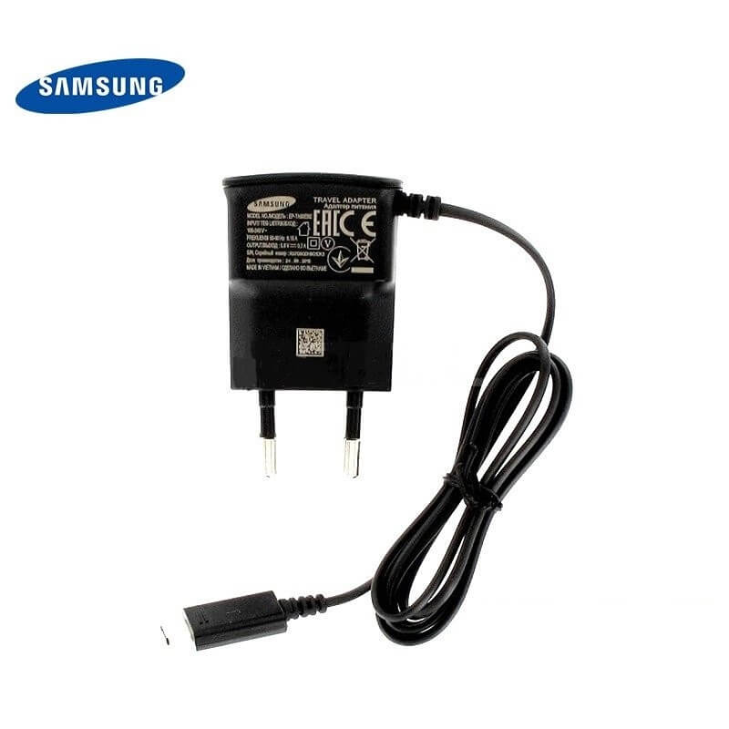 Samsung Travel Charger EP-TA60EBE with microUSB cable (black) (bulk)