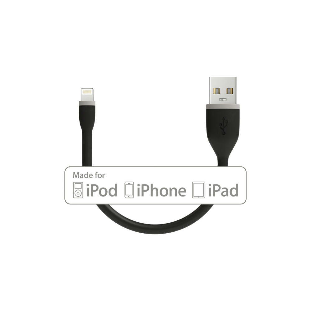 Satechi Flexible Lightning USB Cable - гъвкав USB кабел за iPhone, iPad и iPod с Lightning (черен) (15 см)