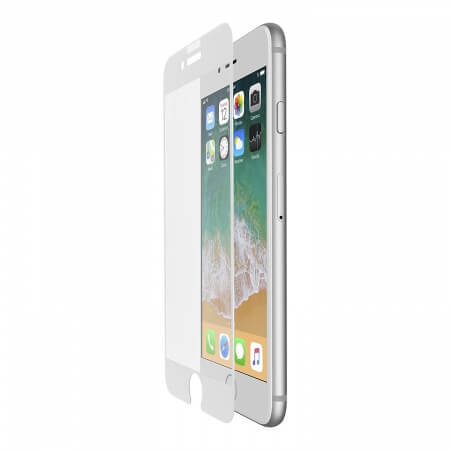 Belkin TCP 2.0 Tempered Edge to Edge Glass for iPhone 8, iPhone 7, iPhone 6S, iPhone 6 (white)