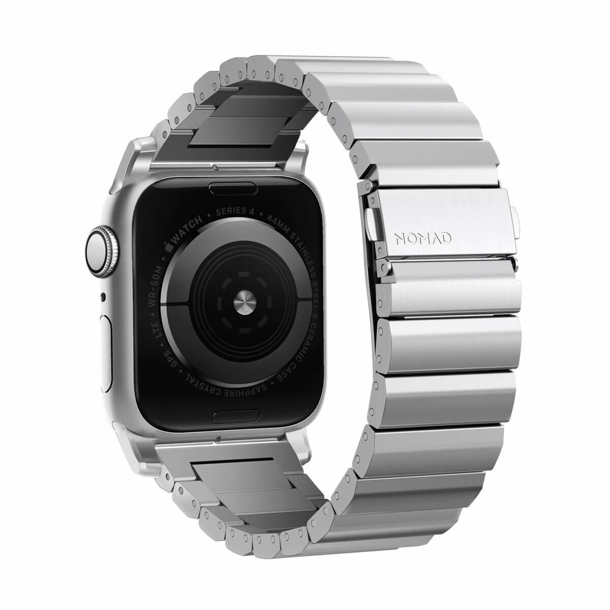 Nomad Strap Titanium Band - титаниева каишка за Apple Watch 42мм, 44мм (сребрист)