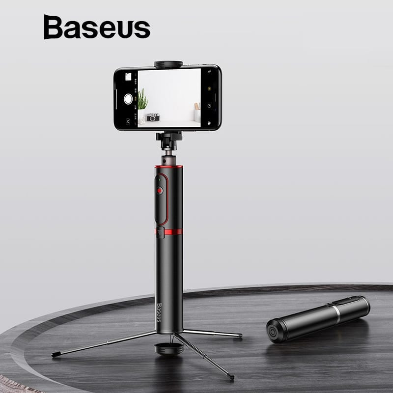 Baseus Fully Folding Selfie Stick (black-red)