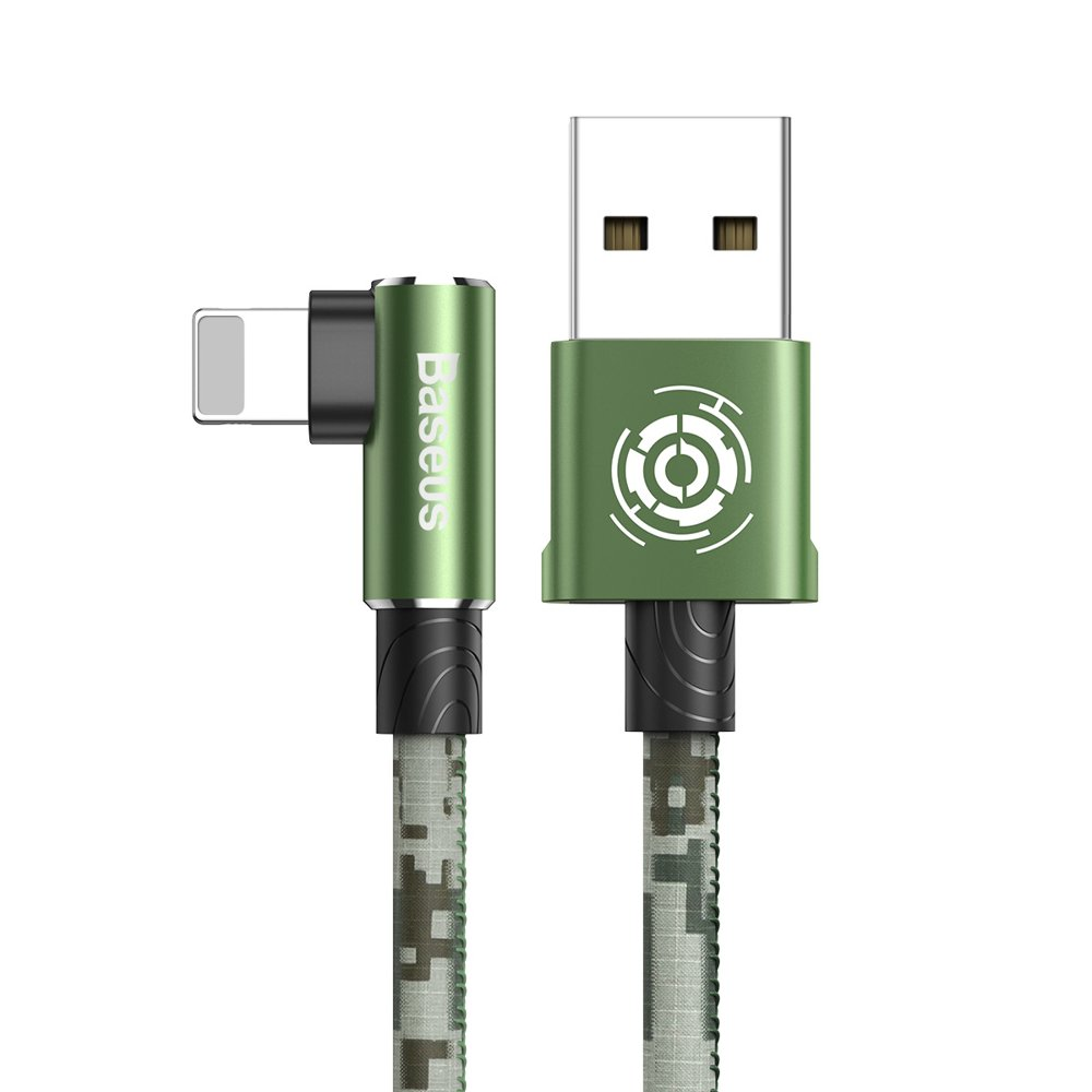 Baseus Camouflage Mobile Game Cable USB For iPhone with Lightning connectors 2.4A (100 cm) (green)