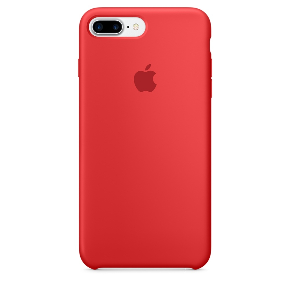 iPhone Silicone Case - силиконов кейс за iPhone 8 Plus, iPhone 7 Plus (червен)
