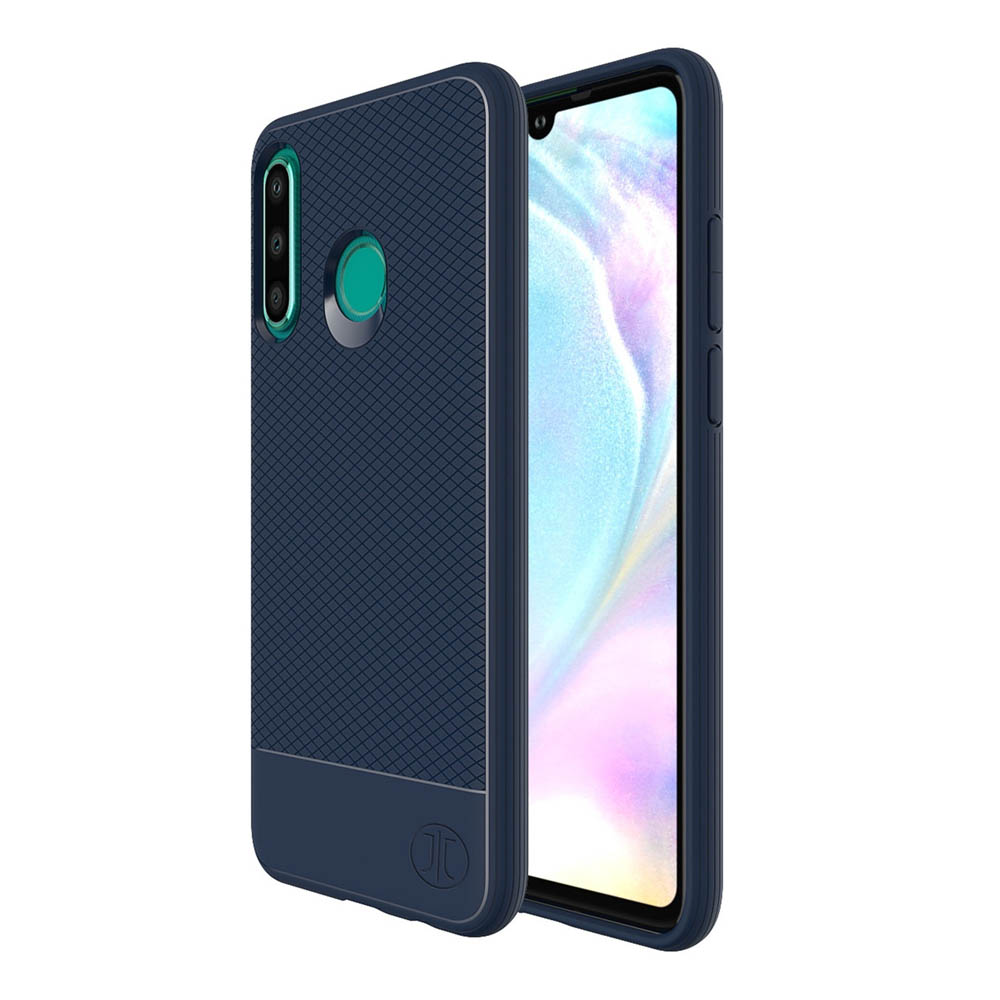 JT Berlin BookCase Pankow Soft - силиконов TPU калъф за Huawei P30 Lite (син)