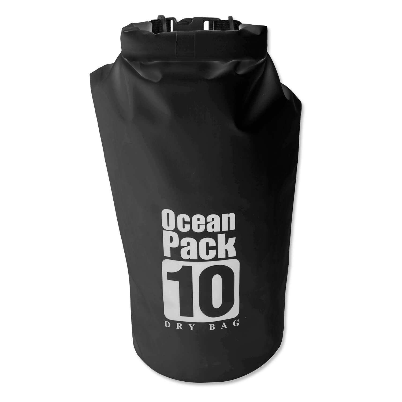 Ocean Pack Waterproof 10l - водонепромукаема чанта с презрамка за рамо, за вещи и различни предмети (черен)
