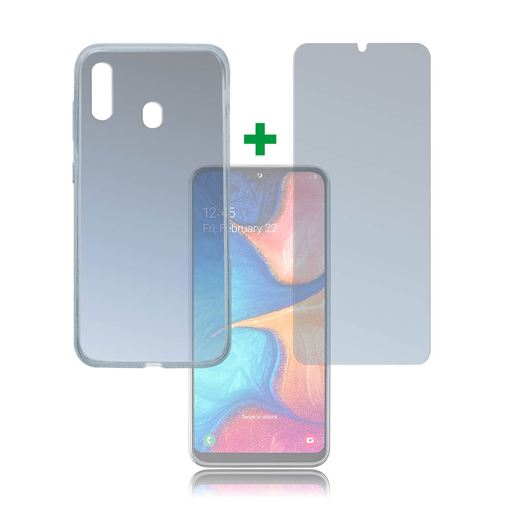 4smarts 360° Protection Set Limited Cover for Samsung Galaxy A20E (transparent)