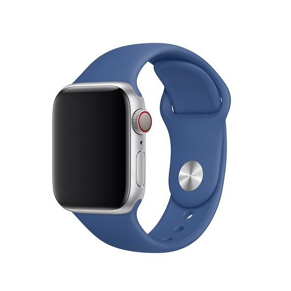 Apple Sport Band S/M & M/L - оригинална силиконова каишка за Apple Watch 38мм, 40мм (син) (retail)