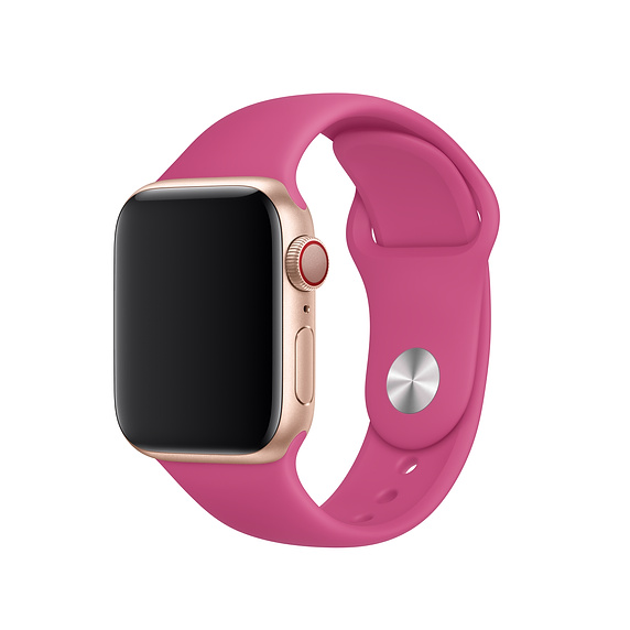 Apple Sport Band S/M & M/L - оригинална силиконова каишка за Apple Watch 42мм, 44мм (виолетов) (retail)