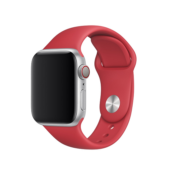 Apple Sport Band S/M & M/L - оригинална силиконова каишка за Apple Watch 38мм, 40мм (червен) (retail)