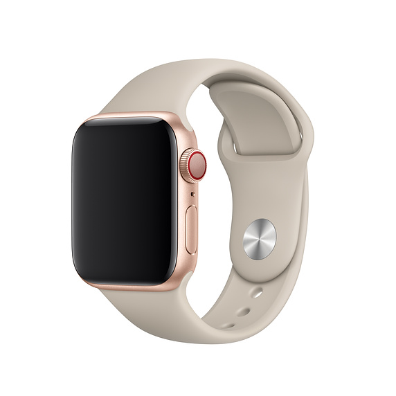 Apple Sport Band S/M & M/L - оригинална силиконова каишка за Apple Watch 42мм, 44мм (бежов) (retail)