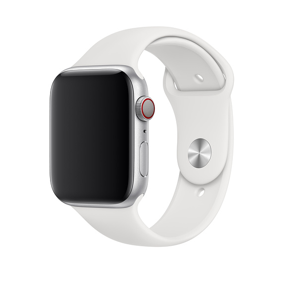 Apple Sport Band S/M & M/L - оригинална силиконова каишка за Apple Watch 42мм, 44мм (бял) (retail)