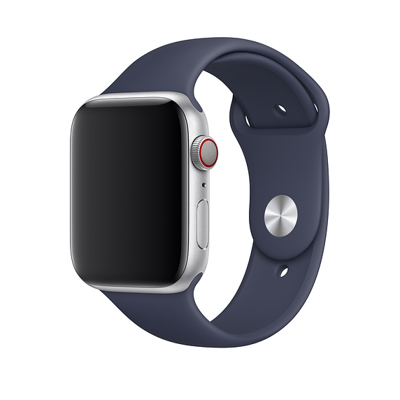Apple Sport Band S/M & M/L - оригинална силиконова каишка за Apple Watch 38мм, 40мм (тъмносин) (retail)