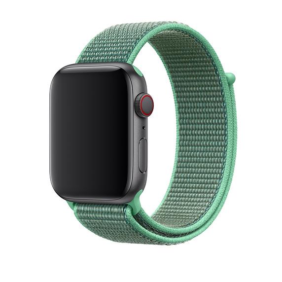 Apple Spearmint Sport Loop - оригинална текстилна каишка за Apple Watch 42мм, 44мм (зелен)