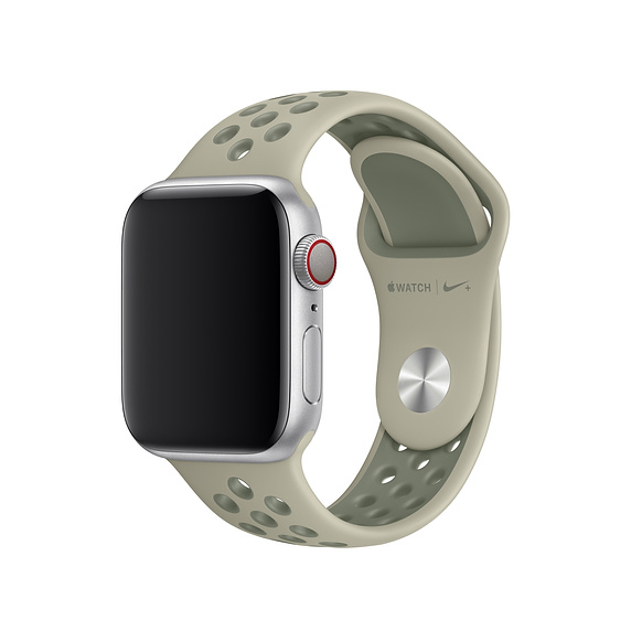 Apple Watch Nike+ Sport Band - оригинална силиконова каишка за Apple Watch 42мм, 44мм (тъмнозелен)