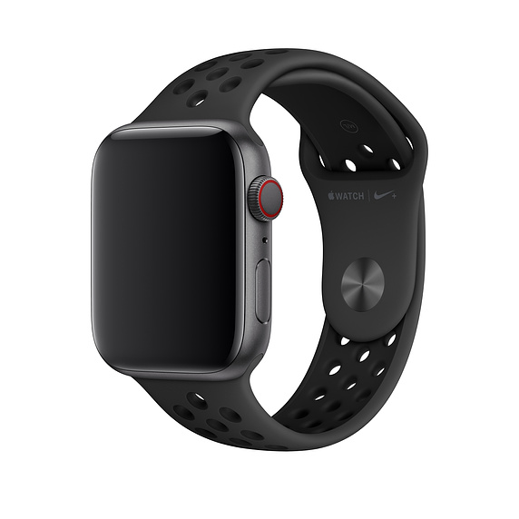 Apple Watch Nike+ Sport Band - оригинална силиконова каишка за Apple Watch 42мм, 44мм (черен)