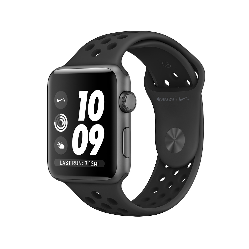 Apple Watch Nike+ Series 3, 38mm Space Gray Aluminum Case with Anthracite/Black Nike Sport Band, GPS - умен часовник от Apple