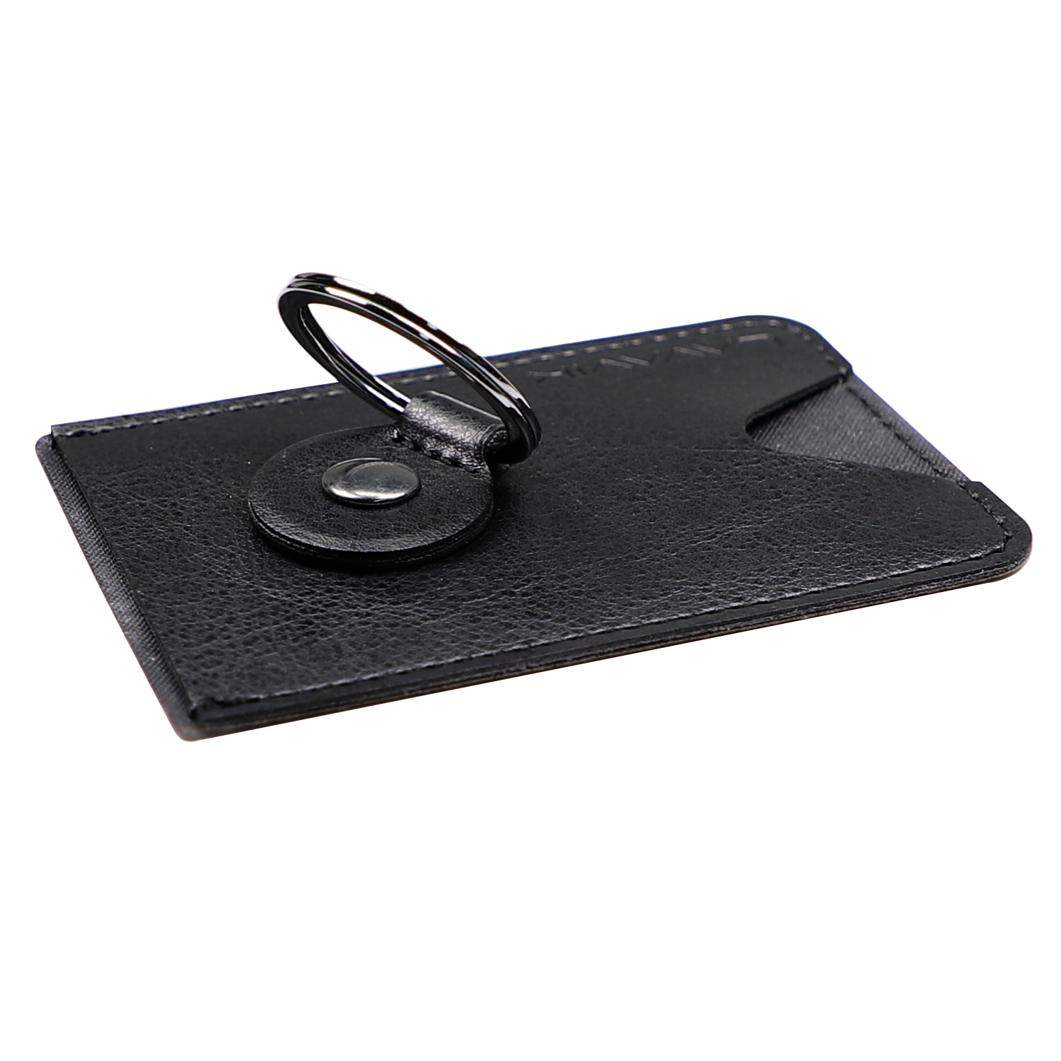 4smarts LAVAVIK Card Holder with Finger Ring and Stand Function (black)