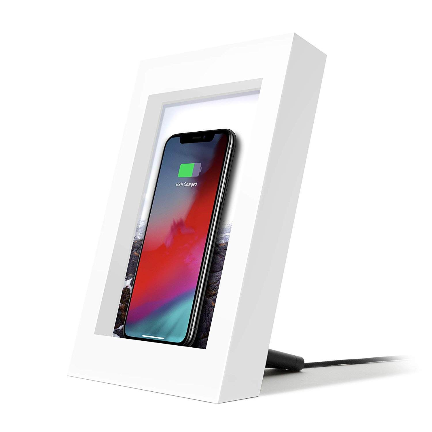 TwelveSouth PowerPic - wireless charging pictureframe (white)