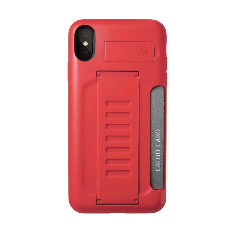 Grip2u BOSS Case with Kickstand for iPhone XS Max (red) (bulk)