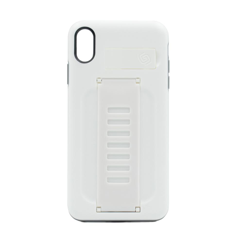 Grip2u BOOST Case with Kickstand - удароустойчив кейс с поставка за iPhone XS Max (бял) (bulk)