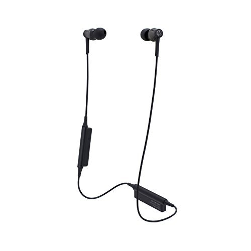 Audio-Technica ATH-CKR35BTBK Sound Reality Tooth Wireless in-Ear Headphones with in-Line Mic & Control, Black