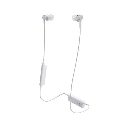 Audio-Technica ATH-CKR35BTSV Sound Reality Tooth Wireless in-Ear Headphones with in-Line Mic & Control, White