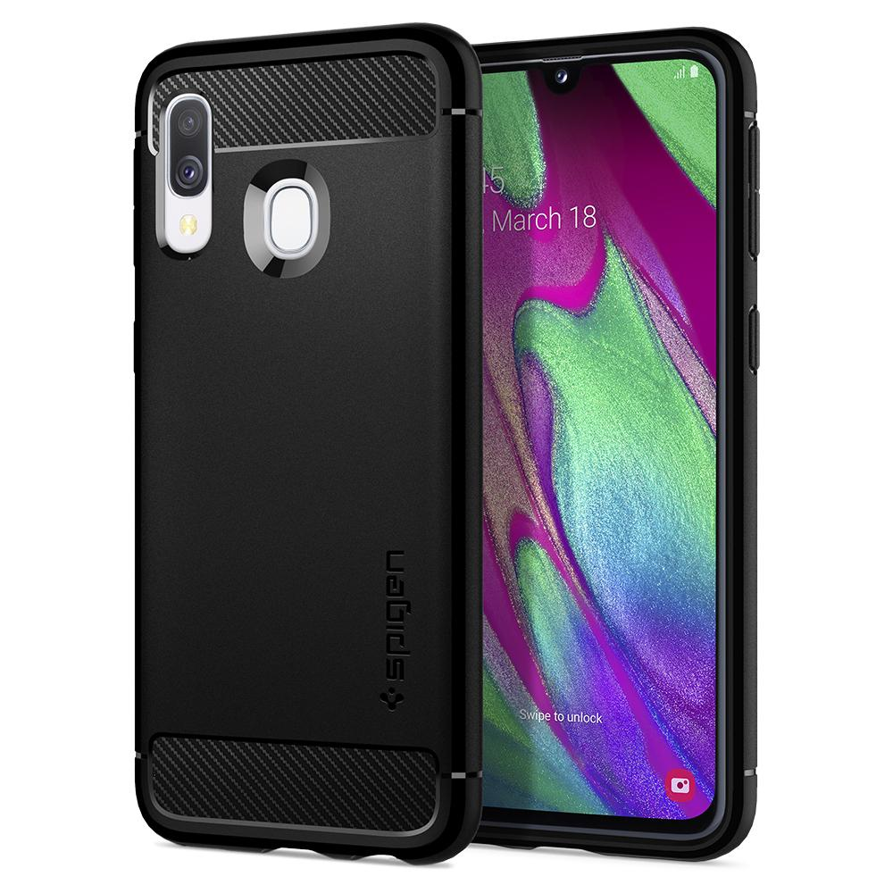 Spigen Rugged Armor Case for Samsung Galaxy A40 (matte black)