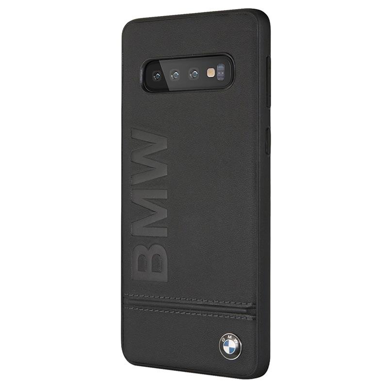 BMW Signature Genuine Leather Soft Case for Samsung Galaxy S10 Plus (black)