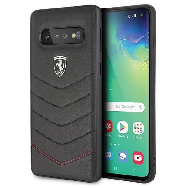 Ferrari Heritage Quilted Hard Case for Samsung Galaxy S10 Plus (black)