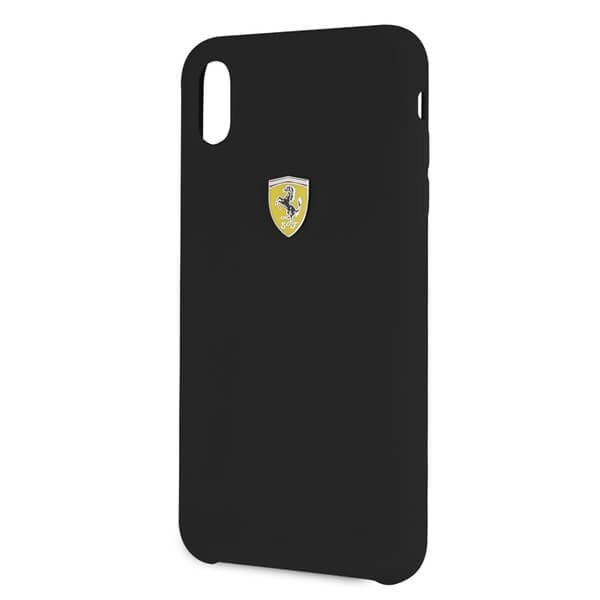 Ferrari Hard Silicone Case for iPhone XS, iPhone X (black)