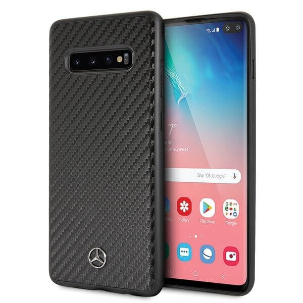 Mercedes-Benz Dynamic Carbon Fiber Hard Case for Samsung Galaxy S10 Plus (black)