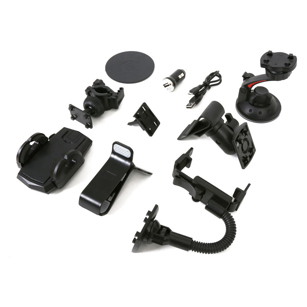 Omega Universal Car and Bike Accessories Kit 10in1 (black)