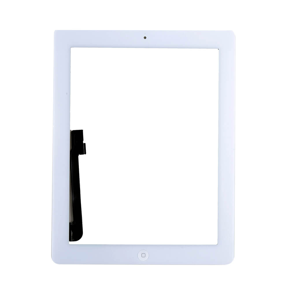 OEM iPad 3 Touch Screen Digitizer with Home button and Glass (white)
