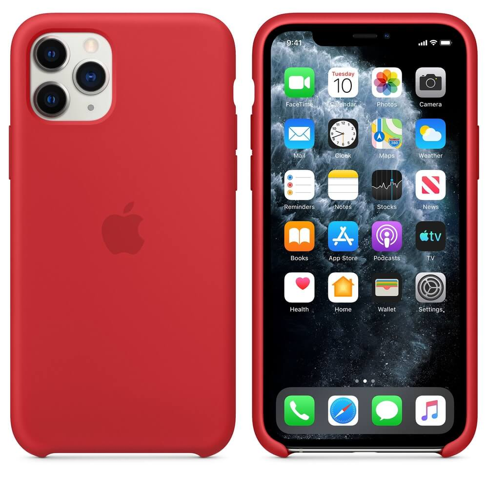 Apple Silicone Case for iPhone 11 Pro Max (red)