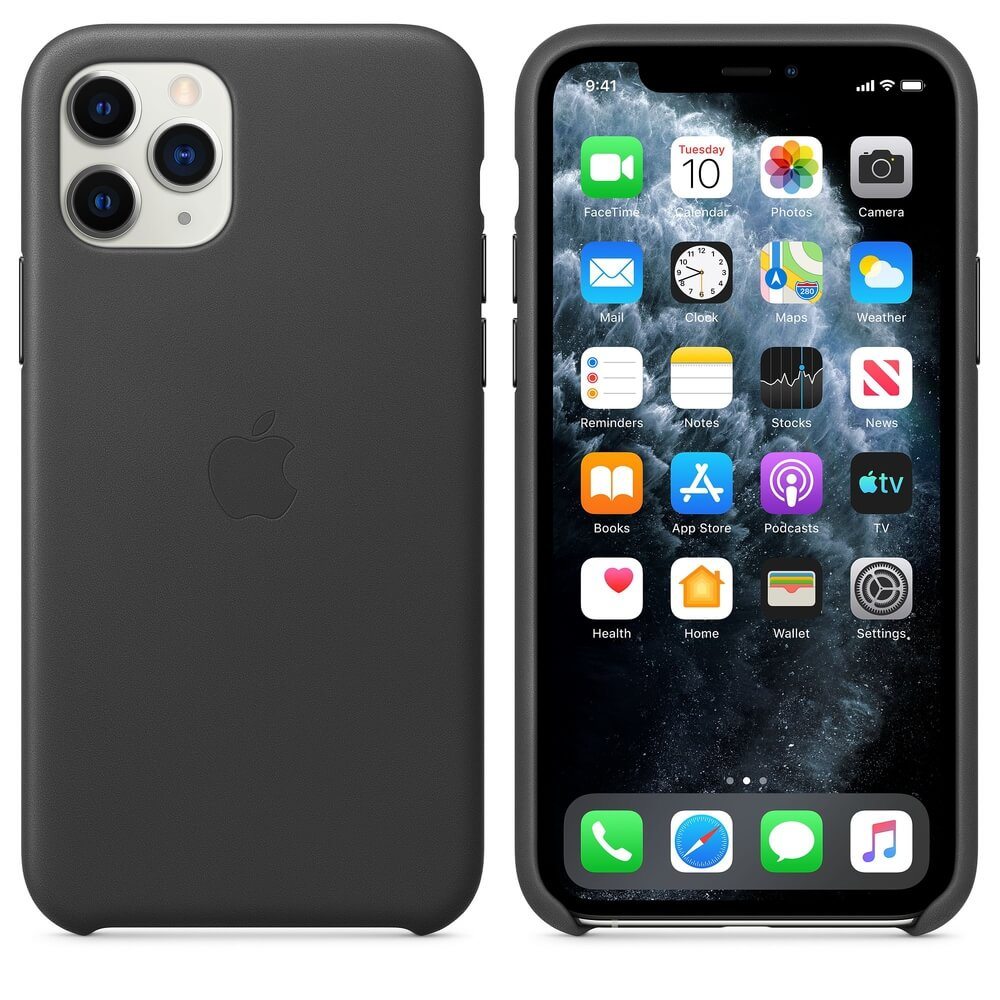 Apple iPhone Leather Case for iPhone 11 Pro Max (black)