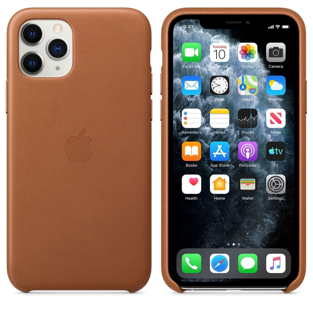 Apple iPhone Leather Case for iPhone 11 Pro Max (saddle brown)